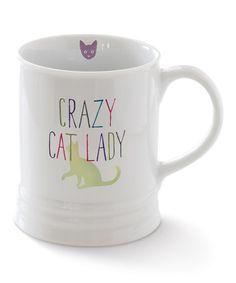 Love this 'Crazy Cat Lady' Georgia Mug by Fringe Studio on #zulily! #zulilyfinds