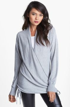 Grey wrap around sweater