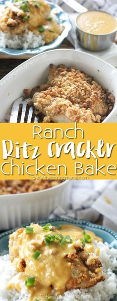 Ranch Cracker Chicken Bake Recipe - This one dish baked chicken dinner is tender and juicy on the inside and topped with a perfectly crisp ranch flavored cracker crust. This is the perfect dinner to please even the pickiest of eaters.