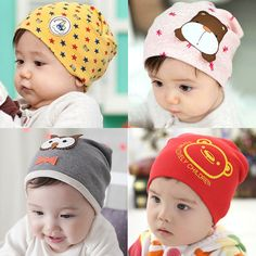1.94$  Watch now - Retail 1-3 years old boys and girls summer spring baby hats,21 colors cotton animal printed infant caps kids knitted cap   #magazineonline