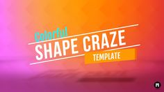 New #Motion5 Template: Shape Craze www.motionvfx.com/N2053 #FinalCutProX #FCPX #VideoEditing #Apple #MotionDesign