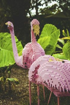 lawn flamingo + lego = fabulous/ genius