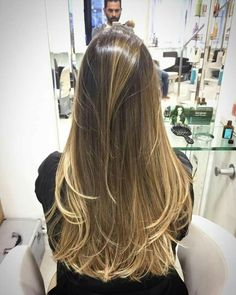 36 Perfect Hairstyles for Long Thin Hair (Trending for - Style My Hairs Cabelo Ombre Hair, Balayage Hair, Brown Blonde Hair, Brunette Hair, Long Thin Hair, Hollywood Hair, Beautiful Hair Color, Burgundy Hair, Relaxed Hair