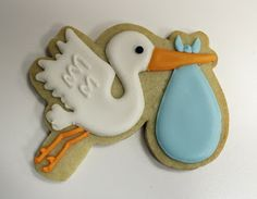 Sugar Mama Cookies: From Engagements to Weddings to Babies - Hearts, Storks and more Wedding Cake Cookies