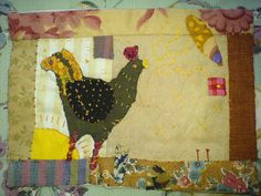 Cockerel    Handsewn from pattern from Janet Boltons book 'My Grandmothers Patchwork quilt'