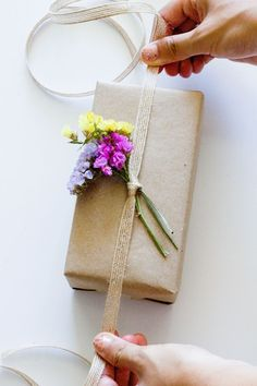 Dried flower gift topper.