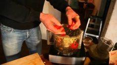 Brad Gruno making his Famous Salad (Brad's Raw Foods)