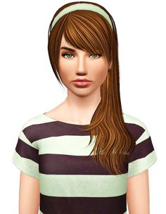 Rose 80 hairstyle retextured by Pocket for Sims 3 - Sims Hairs - http://simshairs.com/rose-80-hairstyle-retextured-by-pocket/