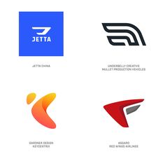 2019 LogoLounge Trend Report - Wing logos Abstracted wings are the comment element of these logos, without being literal about it. Logo Design Trends, Logo Design Inspiration, Web Design, Graphic Design, Car Logo Design, Logo Restaurant, Logo Sketch, Logo Branding, Branding Design