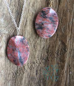 Jasper Gemstone Necklace Silver or Gold Chain by BirdMelodies