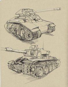 Military Vehicles: 41 Tank Ideas  #Military #Tank #Vehicles Car Drawings, Realistic Drawings, Tank Drawing, Drawing Poses, Military Drawings, Human Body Anatomy, Star Wars Vehicles, Visual Memory, Car Design Sketch
