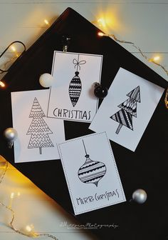 PIKKUPIRTIN // LOTTA christmas cards. Christmas Decorations Drawings, Dyi Christmas Cards, Christmas Labels, Christmas Wrapping, Christmas Art, Pop Up Greeting Cards, Calligraphy Cards, Diy Weihnachten, Diy Cards