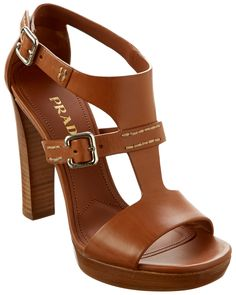 Spotted this Prada Leather Stacked Heel Sandal on Rue La La. Shop (quickly!).