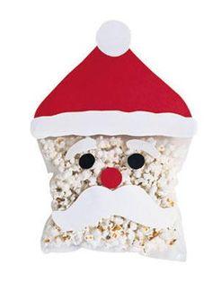 popcorn santa - great for kids #holiday #party #santa