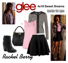 Rachel Berry (Glee) : Next To Me by aure26 on Polyvore featuring OPTIONS, ASOS and glee