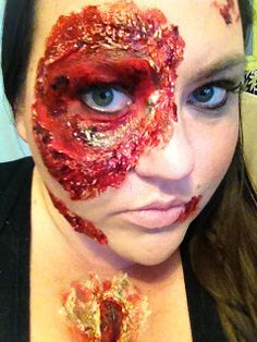 diy fake wounds with toilet paper halloween costume anyone - Halloween Fake Wounds