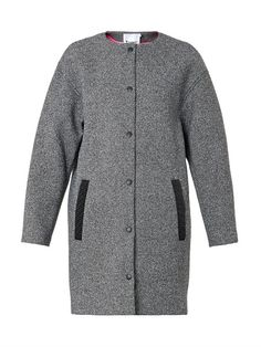 T By Alexander Wang Textured bonded-neoprene coat
