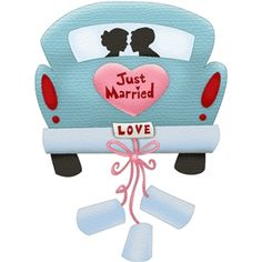 Silhouette Design Store: car just married
