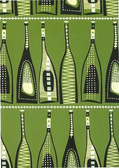 Malaga wallpaper, by Palladio Wallpapers. England, 1955