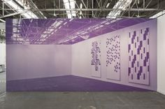 Michael Riedel on his solo installation at David Zwirner Armory Show Booth 2012