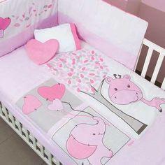 Set De Edredon Para Cuna De Bebe Cebrita Pijamera Protector ... Baby Crib Bedding, Baby Pillows, Baby Bedroom, Nursery Room, Bedding Sets, Baby Elephant Nursery, Baby Girl Nursery Themes, Cot Sheets, Patchwork Baby