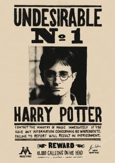 Harry Potter Wanted Order Undesirable No.1 Vintage Kraft Poster Movie Wall Art #BLINGIRD