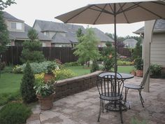 Maybe with a wall separating the rest of the yard?  And some privacy fencing?  And greenery???? #pinmydreambackyard