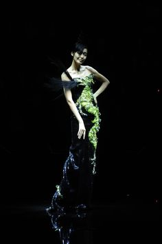 For the 'One Night Only in Beijing' fashion show, a selection of new couture looks were introduced to the Armani Privé collection and designed exclusively for the occasion as a tribute to China.