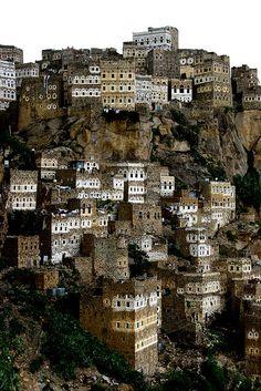 Al Hajjara - Yemen by Eric Lafforgue