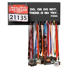 Due to different computer monitors/calibrations colors may vary slightly from the picture. Showcase every little victory with this beautiful bib and medal hanger! The body of th Las Vegas, Fitness Motivation, Triathlon Motivation, Motivation Wall, Fitness Fun, Personal Fitness, Fitness Gear, Running Motivation, Health Fitness