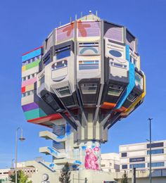 In the Steglitz neighbourhood of Berlin, a neglected brutalist tower block has become a canvas for street artists. Behold the Bierpinsel, or 'Beer Brush'.
