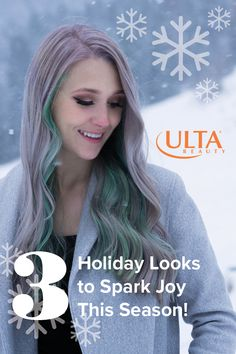 Three techniques to spark joy this holiday season through texture, color and styling by the Ulta Design Team Members. #ultabeauty #modernsalon #holidayhair #specialoccasionhairstyles Special Occasion Hairstyles, Holiday Hairstyles, Holiday Looks, Joy, Texture, Hair Styles, Beauty, Color, Design