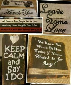Love the signs (: