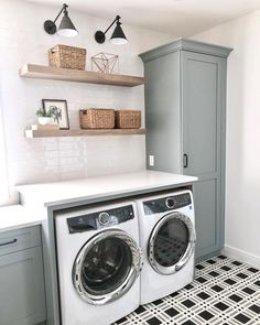 Clever Ideas for Small Laundry Room Design Clever Ideas for Small Laundr. - Clever Ideas for Small Laundry Room Design Clever Ideas for Small Laundry Room Design Trend - Laundry Room Layouts, Mudroom Laundry Room, Laundry Room Remodel, Farmhouse Laundry Room, Laundry Room Organization, Laundry In Bathroom, Laundry Decor, Laundry Room With Cabinets, Laundry Room Shelving