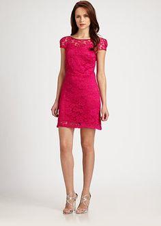 Theia - Lace Dress - Saks.com
