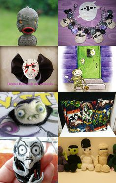 Halloween Monsters in June HAB--Pinned with TreasuryPin.com