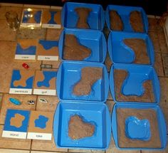 homemade land and water forms