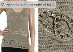 Patrones Crochet: Cadenas entre Crochet