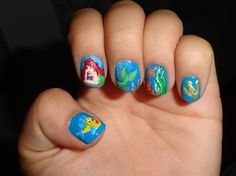 little mermaid nails- maybeee ill attempt this one day :/