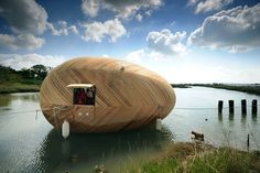 Floating Wooden Exbury Egg House   An Awesome Tiny House That Floats! #awesome #tiny #house