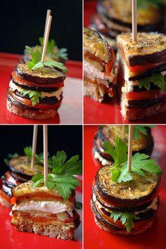 Aubergines à la tomate et au fromage de chèvre