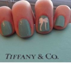obsessed with anything Tiffany Blue! Nails Now, How To Do Nails, My Nails, Tiffany Nails, Tiffany Blue, Cute Nails, Pretty Nails, Fancy Nails, Fingernails Painted