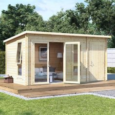 BillyOh Tianna Log Cabin Summerhouse with Side Store - Log Cabins - Garden Buildings Direct