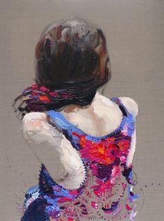 thoughtful  acrylic on linen  Judith Geher