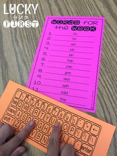 Type 'Em Out Daily 5 Word Work ideas   Lucky to Be in First