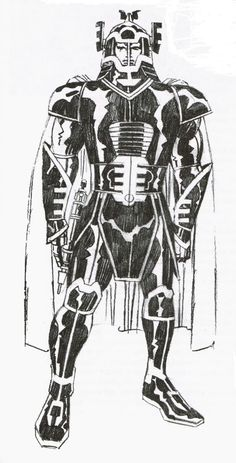 ungoliantschilde:  Jack Kirby in Black & White, for your appreciation.