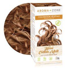 Coloration végétale henné Châtain naturel BIO - Aroma-Zone Diy Hairstyles, Dyed Hair, Henna, Cosmetics, Hair Styles, Beauty, Recherche Google, Shoe Rack, New York
