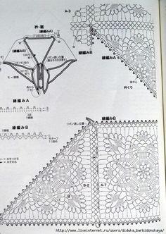 Che ne dite di questo stupendo sciale composto da mattonelle all'uncinetto. fonte:http://www.liveinternet.ru/users/fruktosha/post331273563/