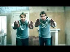 """""""Oliver teaching James how to play The Deathly Hallows, Part I on Kinect. Goodness they're adorable."""""""