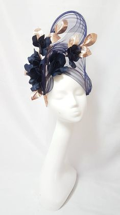 Custom and read to wear fascinators, hats and headwear Millinery Hats, Fascinator Hats, Fascinators, Headpieces, Sinamay Hats, Flower Headdress, Types Of Hats, Ascot Hats, Races Fashion